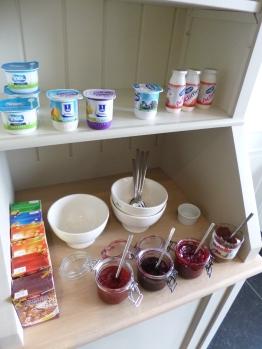yoghurt en confituur